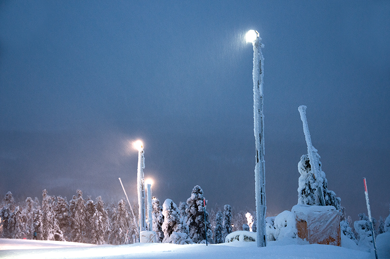 Light up the slopes leds and levi ski resort u a perfect match