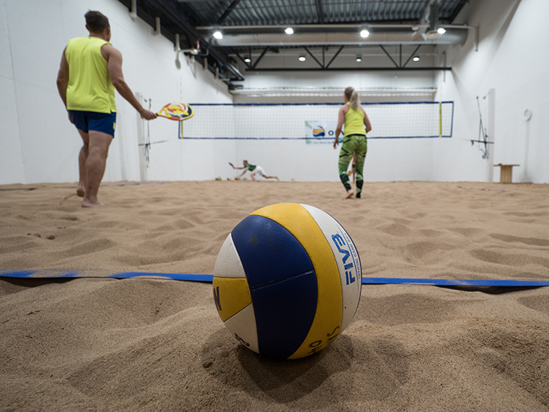 OBV Beach Volley hallilla ei talvea tunneta